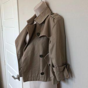 Burberry Cropped Trenchcoat, Beige Women's M